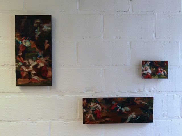 Little things I-II-III      Oil on wood 40 x 20 cm - 15 x 40,5 cm – 15 x 10 cm