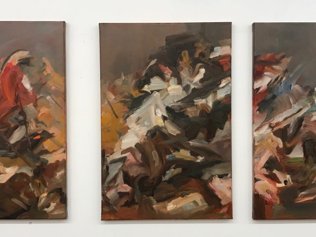 Finale II - triptich - 60 x 40 cm - oil on canvas