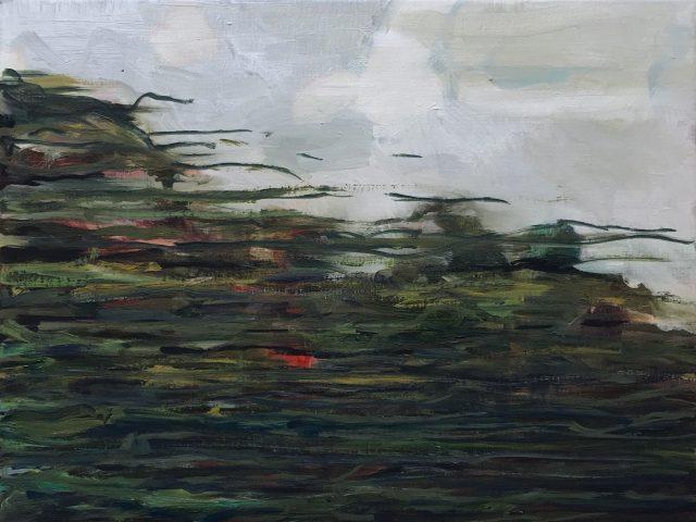 Time flies (Horizon series)- oil on canvas 30 x 40 cm