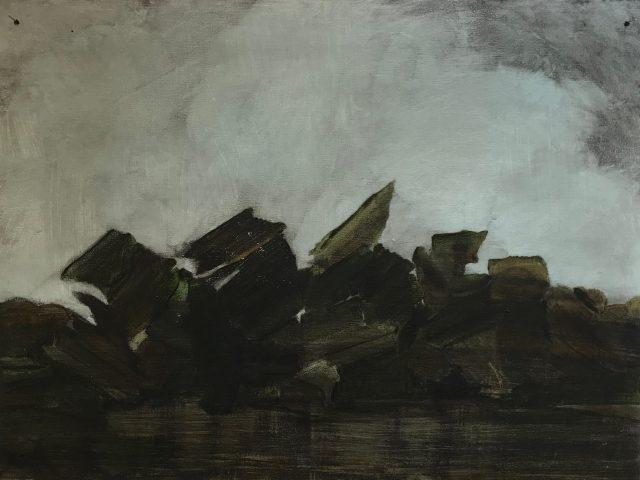 Peaky blinders (Heaps series) - oil on wood panel 30,5 x 41 cm